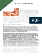 Pizza de Polenta facile ou Base de Tortilla pour les végétaliens