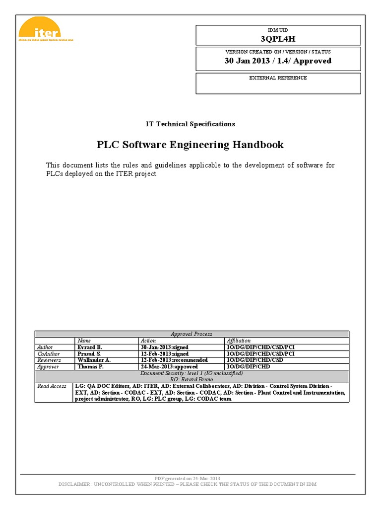 10-PLC Software Engineering Handbook 3QPL4H v1 4