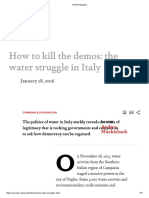 ROAR Magazine-italy Water Struggle
