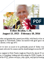 Esther Braden Announcement Feb 18 2016