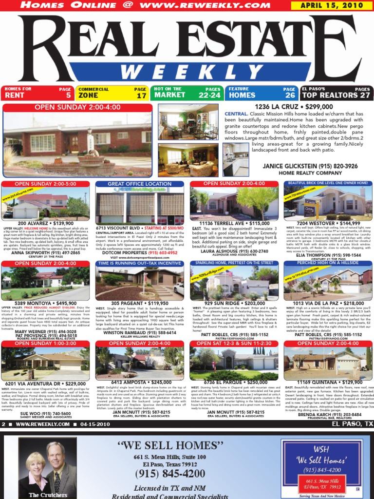 f415ebe03b8 Real Estate Weekly - April 15