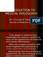 Dr. Suryadi (Introduction to Medical Phylosophy