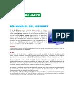 17 de Mayo - Día Mundial Del Internet