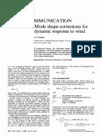 Mode SHape Corrections for Dynamic Response to Wind - ESModeShapeCorrections1987
