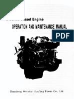 Weichai Huafengdongli R Series Diesel Engine Manual