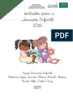 Orientações Para Educação Infantil - 2016