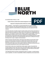 Blue North press release on Prowler Fisheries deal
