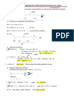 Ejercicios prácticos para el cálculo de Solicitaciones Internas en Vigas