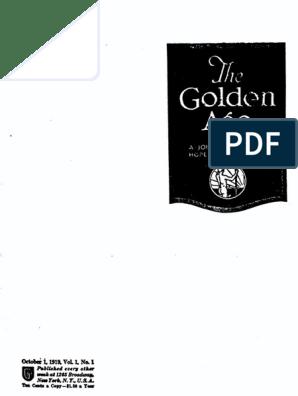 Golden Age Journal, 1919 | Phosphorus | Phosphate