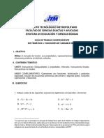 Guía Trabajo Independiente Uno Cdx24 2016 1