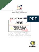Pk 07 Pengurusan Mesyuarat