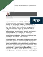 Schettino Macario, Populismo y El Paraíso Perdido.,6 Oct 2015