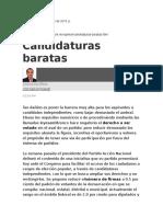 Ugalde Luis C., Candidaturas Baratas,6 Oct 2015