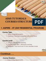 AIMS Tutorials Course Structure