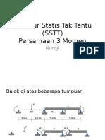 Analisis Struktur Metode Persamaan 3 Momen