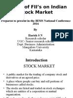 Harish S N- Impact of FIIs on Indian Stock Market