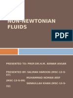 Transport Phenomena Presentation on Non-newtonian Fluids