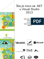 Šta Je Novo Za NET u Visual Studio 2013
