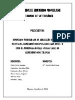 Viabilidade Do Uso Da Moringa Como Alimento de Tilápias - Revisão Bibliográfica