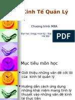 Kinh Tế Quản Lý - Chương Trình MBA (1)