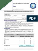 AIUB Lab Cover Sheet