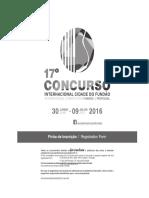 Concurso_internacional_2016 Ficha Inscrição - Registration Form