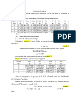Calibração de Pipetas