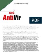 Antivirus Android gratuit Cellular security
