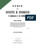 Serie delle monete e medaglie d'Aquileja e di Venezia. Vol. II / di Federico Schweitzer