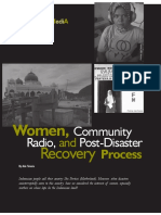 Women, Community Radio, And Post-Disaster Recovery Process