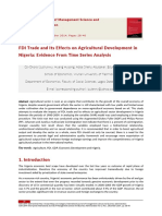 FDI Trade and Its Effects on Agricultural Development in Nigeria Evidence From Time Series Analysis