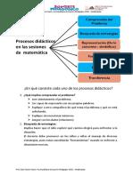 procesos didacticos matemtica