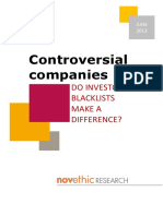 2013 Controversial Companies Study