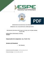 Metodos de Sintonizacion (SISTEMAS DE CONTROL )