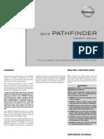 2013 Pathfinder Owner Manual