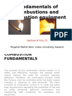 Fundamentals of Combustions and Combustion Equipment