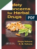 Safety Concerns for Herbal Drugs (2016)