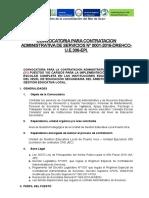 Convocatoria Cas - Jec Ugel Puerto Inca 2016