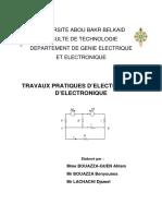 Manuel TP ELN L2 ST S4 Electricite