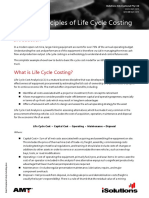 Basic Principles of Life Cycle Costing