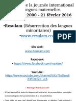 Salutations en Langues Camerounaises (Journée International des Langues Maternelles)