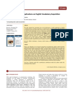 The Effect of Mobile Applications on English Vocabulary Acquisition