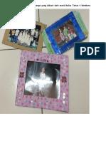 Bingkai Gambar Keluarga Yang Dibuat Oleh Murid Kelas Tahun 4 Kembara