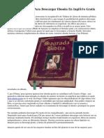 Mejores Páginas Para Descargar Ebooks En Inglés Gratis