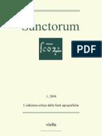 Sanctorum 1 l Edizione Critica Delle Fonti Agiografiche