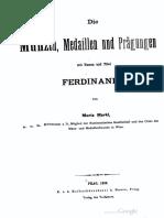 Die Münzen, Medaillen und Prägungen mit Namen und Titel Ferdinand I.. [Thl.I