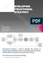 Developing an Instructional Strategy