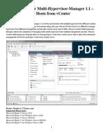 VMware VCenter MultiHypervisor Manager