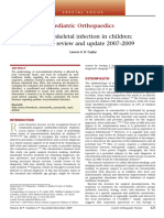 Musculoskeletal Infection in Children (Current 2007 2009)
