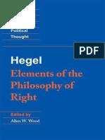 Hegel_ Elements of the Philosophy of Right - Georg Wilhelm Friedrich Hegel
